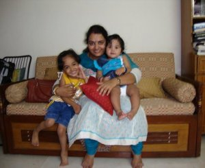 With Anu and Lil Love (July 2009)