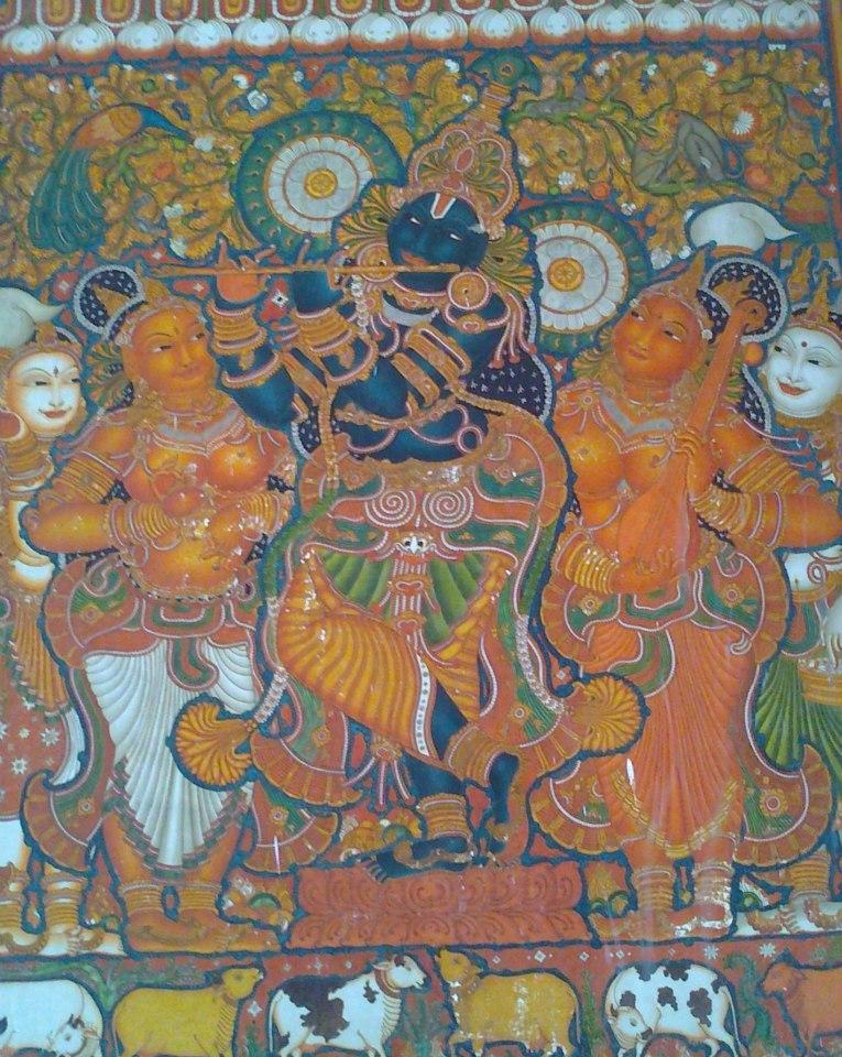 Uttara guruvayoorappan temple day 27 10 minutes from for Asha mural painting guruvayur
