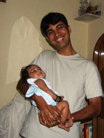 anu with dad