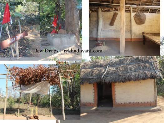 Baiga Temple and Hut