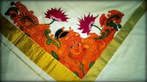 Mural Painting on Saree by Keethu