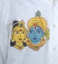 Painted by Keethu on her Dad's shirt